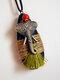 Wooden Alloy Vintage Ethnic Hemp Rope Tassel Elephant Long Sweater Necklace - Green