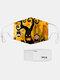 男性と女性7PCSPM2.5フィルターハロウィーンスタイルの印刷使い捨てではない通気性マスク - #05