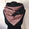 Женский универсальный толстый теплый шарф в полоску с принтом - Роза