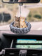 1PC Acrylic Cute Car Rearview Mirror Cat Kitty Pendant Home Hanging Ornament Backpack Keychain Accessories - #03