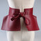 Pu Leather Corset Belts for Ladies High Waistband Bowknot Women Dress Waist Belt