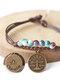 Vintage Constellation Circle-shape Ceramic Alloy Bracelets - #06