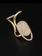 Elegant Opening Diamond Nail Ring Tail Ring - #01