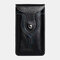 Men 6.3 Inch EDC Retro Short Cell Phone Case Belt Bag - Black