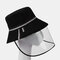 COLLROWN Removable Sun Visor Fisherman Hat Anti-droplet Cap Cover Face  - Black