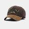 New Fashion Baseball Cap Retro Sun Hat Embroidery Hats - Coffee