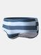 メンズセクシービッグストライプクイックドライドローストリングビーチスイムウェアブリーフ - ライトブルー