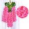 12 قطعة / المجموعة 100 سنتيمتر الزهور الاصطناعية الحرير الوستارية وهمية حديقة معلقة زهرة النبات كرمة ديكور الزفاف - زهري