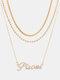 Collar Vintage Doce Constelaciones Mujer Collar de diamantes con incrustaciones de múltiples capas Colgante - Piscis