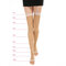 Women Elastic Wire Over Knee Stocking Solid Color Thigh Long Breathable Contoured Stockings Socks - Coffee