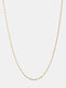 Luxury Stainless Steel Paperclip Chain Women Necklace Heart Pendant Necklace Sweater Chain - #03