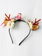 12 Pcs Christmas Children Hair Accessories Cute Cat Ears Elk Headdress Headband - #11