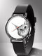 Animal Printed Men Business Watch Black-White Dogs Cats Pattern Women Quartz Watch - #13