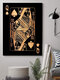 Poker Q Pattern Canvas Painting Unframed Wall Art Canvas Living Room Home Decor - #01
