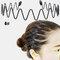 スポーツスタイル男性女性ヘッドバンドヘアピンフェイスウォッシュバックプレッシャーヘアノンハートヘアヘアアクセサリー - 4