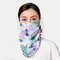 Women Breathable Printing Masks Ear-mounted Neck Protection Sunscreen Scarf Shawl - 05