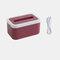 Waterproof Tissue Holder Bathroom Napkin Dispenser Tissue Box with Night Lights - Red