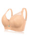 DD Cup Push Up Lace Full Coverage Breathable Bras - Nude