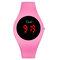 カジュアルスポーツ男性女性LED電子Watchシリコンバンド発光センサー防水デジタルWatch - ピンク