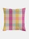 Classic Plaid Pattern Linen Cushion Cover Home Sofa Art Decor Throw Pillowcase - #04
