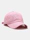 Coton unisexe trous cassés mode chapeau de baseball pare-soleil extérieur - Rose