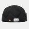 Men & Women Knitted Hat Autumn And Winter Woolen Melon Leather Hat Warm Men And Women Hats Skull Caps - Black