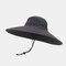 Hat Men's Sun Hat Outdoor Summer Big Along The Sun Hat Leisure Fisherman Hat Men Mountaineering Fishing Sun Hat - Dark Grey