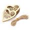 10pcs Natural Wooden Heart Laser Cut Shapes Craft Embellishments Wedding Favors - #2