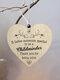 Placa de madeira para presente pendurada com chip de Natal de madeira Pingente Coração Decoração de garrafa de vinho em forma de etiquetas para casa - #04