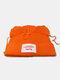 Men & Damen Cute Piggy Katze Ohren Plain Color Warm halten Winddicht gestrickt Hut - Orange