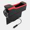 カーシートギャップ収納ボックスUSB充電ベルトデジタルディスプレイ収納ボックス多機能レザーカーウォーターカップホルダー - 黒2