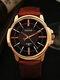 Fashion Men Quartz Watch Luxury Roman Numeral Wrist Watch - Brown