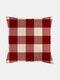 Classic Plaid Pattern Linen Cushion Cover Home Sofa Art Decor Throw Pillowcase - #10