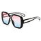 Unisex Retro Big Scatola New Sunglasses Contrast Colour Sunglasses For Woman