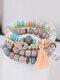 Vintage Multicolor Beautiful Opal Bracelet Temperament Multi-layer Tassel Bracelet - #07