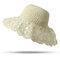 Женское Дышащий Складной Лук Солнцезащитный Крем Ведро Солома Шапка На открытом воздухе Случайные Путешествия Пляжный Море Шапка