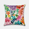 Tropical Flower Pillowcase Hand-Painted Rainforest Digital Printed Linen Without Core - #3