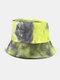 Women & Men Corduroy Multicolor Tie Dye Casual Soft Outdoor All-match Bucket Hat - #12