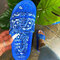 Women Fashion Printed Pattern Slides Outdoor Slippers - Blue