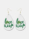 Irish Festival Clover Waterdrop Earrings Faux Leather Earrings Green Hat Car Jewelry Party Gift - #07