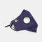 Protective Mask Anti-haze Dust Belt Valve Breathable Cotton Face Mask - Blue