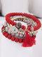 Vintage Multicolor Beautiful Opal Bracelet Temperament Multi-layer Tassel Bracelet - #08