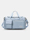 Lightweight Sports Gym Bag with Wet Pocket & Shoes Compartment Travel Duffel Bag Lightweight - Sky Blue
