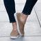 Women Solid Color Hollow Brathable Non Slip Casual Shoes - Khaki