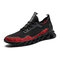 Men Knitted Fabric Soft Breathable Lace Up Running Casual  Sneakers