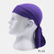 Quick-drying Turban Perspiration Breathable Sunscreen Outdoor Riding Pirate Hat - Purple