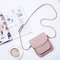 Women PU Leather Solid Crossbody Bag Casual Phone Purse Small Shoulder Bag