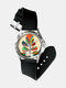 Fashion Geometric Impressionism Abstract Color Block Printed Watch - #1