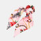 Ponytail Scarf Elastic Hair Rope Hair Bow Ties Scrunchies Hair Bands Flower Print Ribbon Hairbands - 1