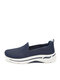 Large Size Women Sport Breathable Knitted Fabric Comfy Slip On Casual Sneakers - Blue